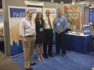 Tom Neis, Melissa Neis, Walt Teichen and Dwight Zivo in Parr's 2014 NAA Conference booth